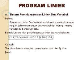 Soal Ulangan Harian Matematika Kelas 11 Kurikulum 2013 Program Linear