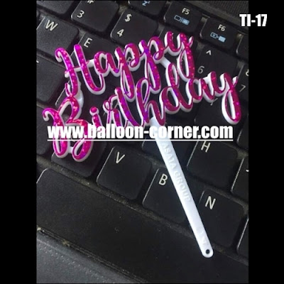 Cake Topper Acrylic Motif HAPPY BIRTHDAY