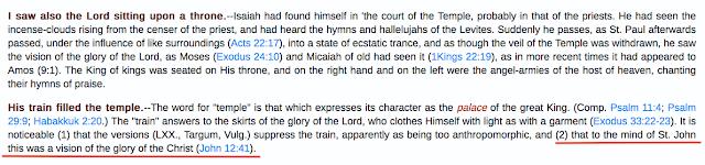 Isaiah 6:1, and John 12:41. Yet AGAIN another Trinitarian deception.