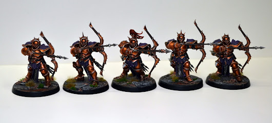 Miniature Monday: Second unit of Judicators for my Lions of Sigmar