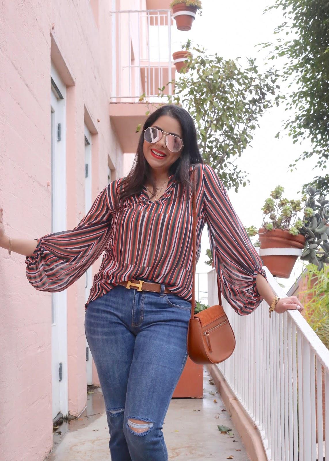 hermes belt outfit, orange lipstick, quay rosegold sunglasses