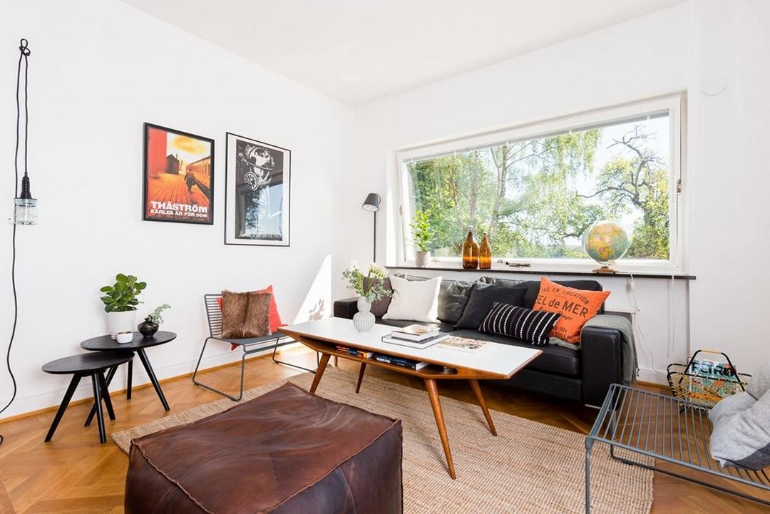 d couvrir l 39 endroit du d cor jolie association de couleurs orange ambre cuir bois sur. Black Bedroom Furniture Sets. Home Design Ideas