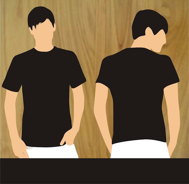 470+ Desain Baju Polos Hitam Depan Belakang Hd HD