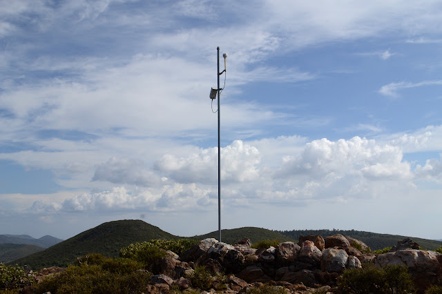 sensor on a stick on a peak