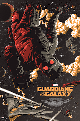 Guardians of the Galaxy Variant Screen Print by Florey x Grey Matter Art