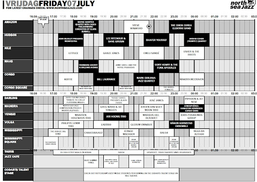 My Schedule for North Sea Jazz 2017 - A Crazy Friday, A Calm Saturday and A Hectic Sunday