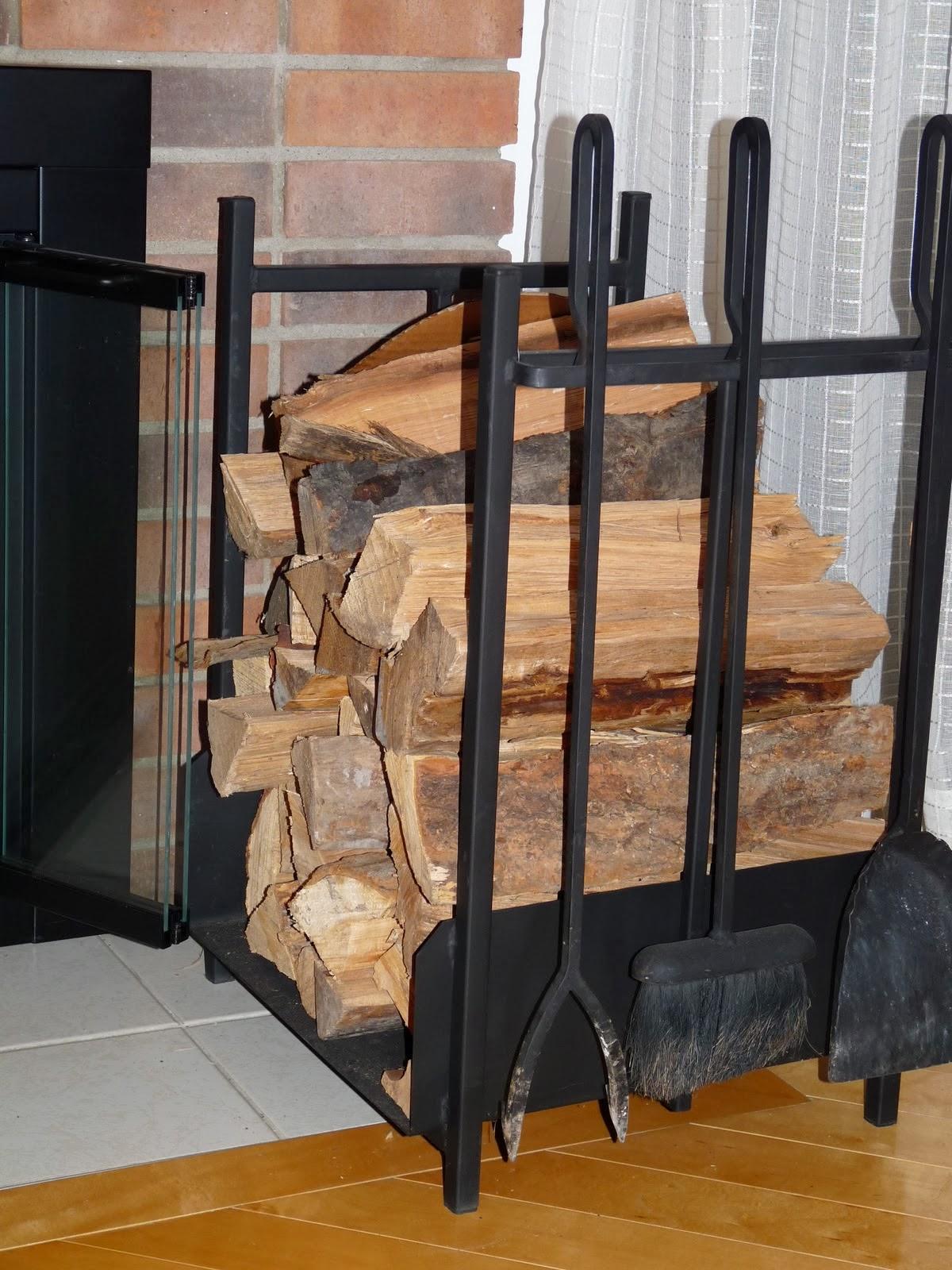 Log holder and fire poker set