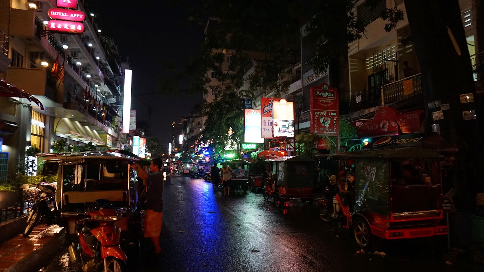 Pub street in Phnom Penh