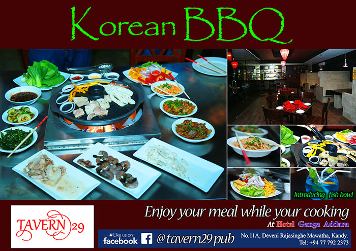 Korean BBQ | Enjoy your meal while your cooking at Hotel Ganga Addara - Kandy.