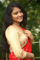 Akshara in Red Saree Golden Choli at LV Movie Makers Production No 1 Movie Opening ~  Exclusive 080.JPG