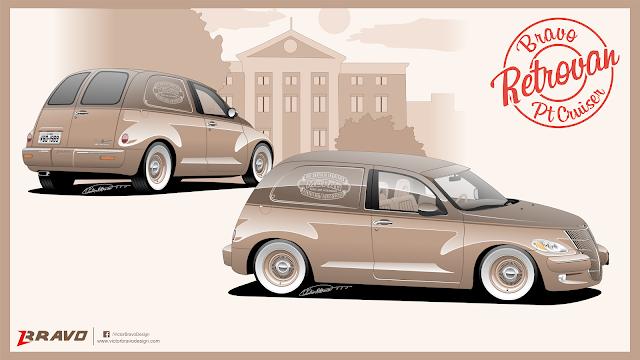 Imagem do desenho do Chrysler PT Cruiser Retrovan