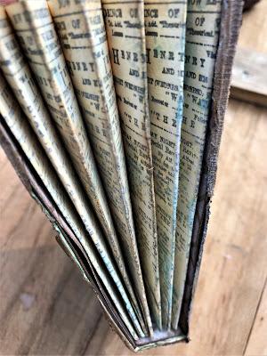 Sara Emily Barker http://sarascloset1.blogspot.com/ Field Notes Mini Album 3D Texture Fade Lumber 9