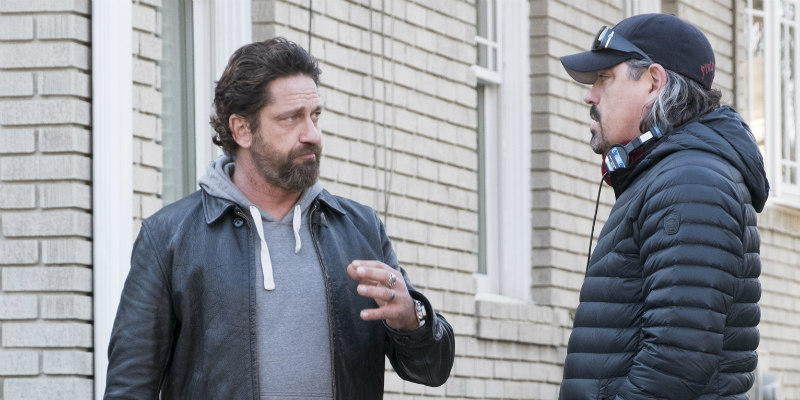 DEN OF THIEVES Director Christian Gudegast and Gerard Butler