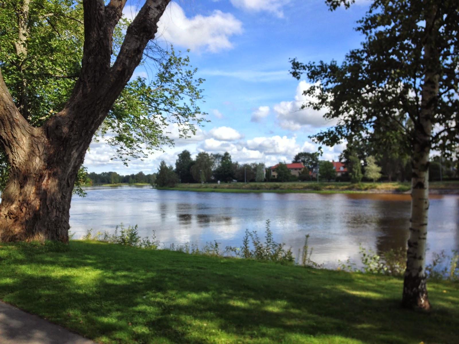 The Klarälven river, Karlstad