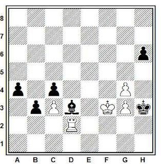 Estudio artísitico de ajedrez de A. Selesniev (Schachmaty Vestnik, 1913)