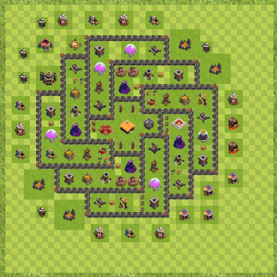 War Base Town Hall Level 9 By Adrian Knight (new TH 9 Layout)