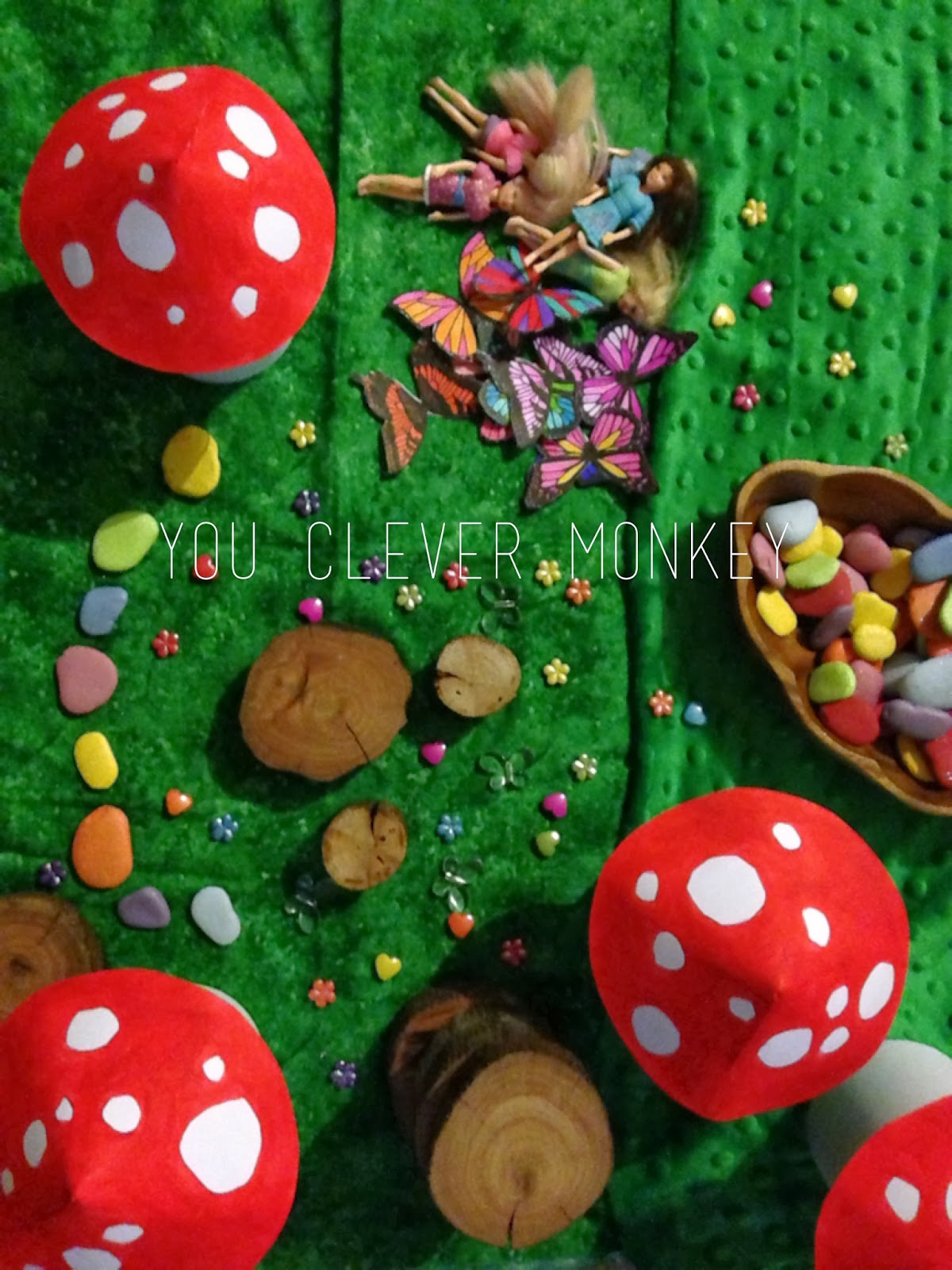 DIY fairy play - make your own fairy scene #youclevermonkey