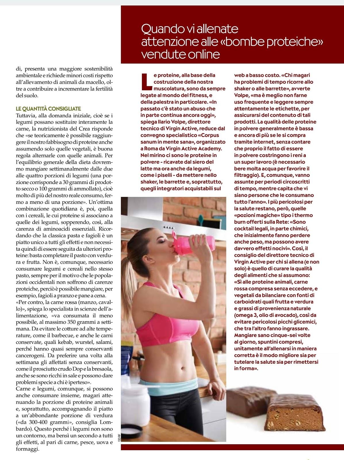 Legumi O Carne La Guida Alle Proteine Intervista Al Dott Lombardo Pubblicata Sulla Rivista Ok Salute E Benessere Sett 2018 Mauro Lombardo