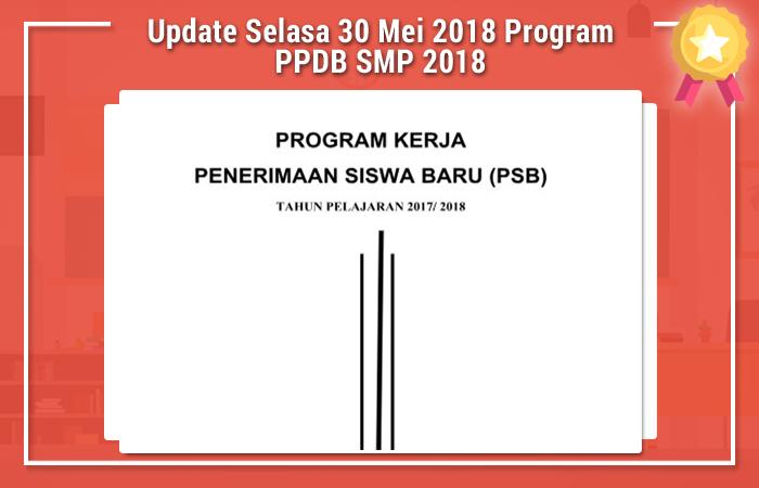 Update Selasa 30 Mei 2018 Program PPDB SMP 2018