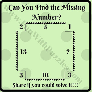 Tough Logic Maths Question to find value of missing number