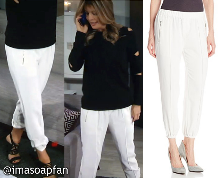 Nina Reeves, Michelle Stafford, White Crepe Pants, GH, General Hospital