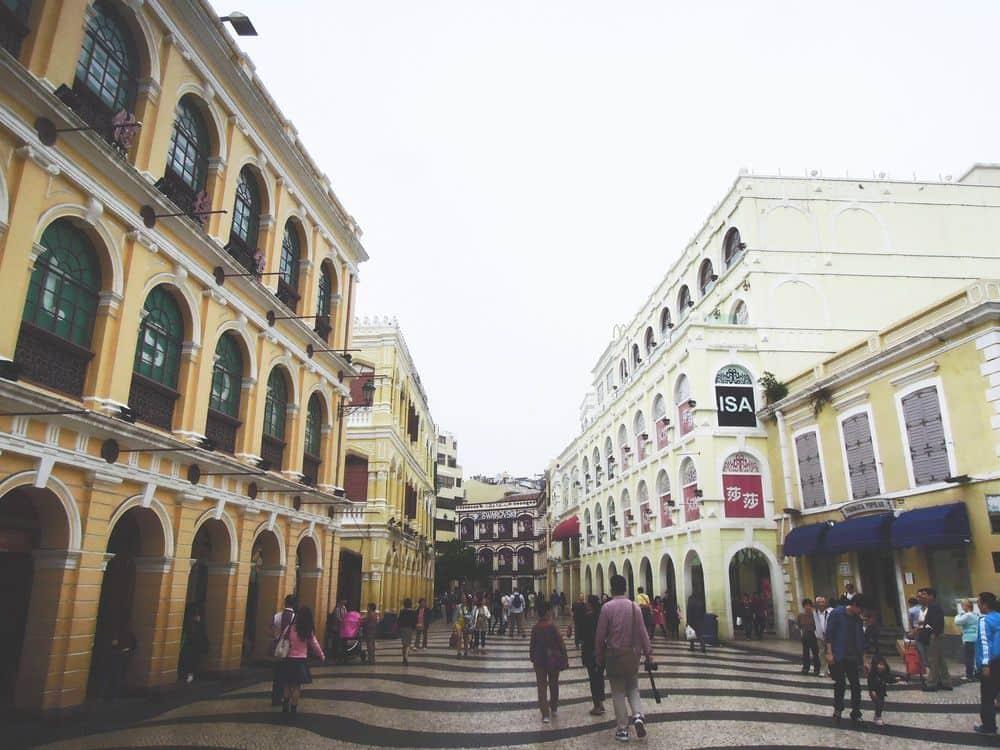 A street at Largo do Senado, Macau