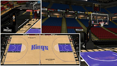 NBA 2K14 Sacramento Kings Court Mod