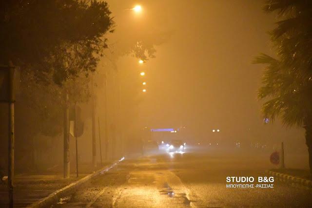 """""""Αγγελοπουλικό"""" τοπίο στην ομίχλη το Ναύπλιο"""