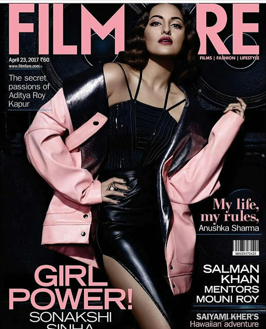 Sonakshi Sinha Sizzles On April Issue Of Filmfare Magazine