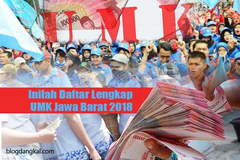 Inilah Daftar Lengkap UMK Jawa Barat 2018