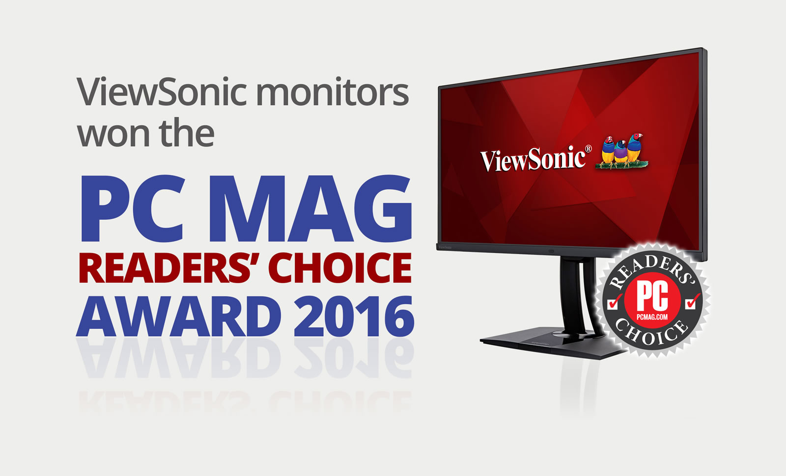 ViewSonic Sweeps PCMag's Readers' Choice Award