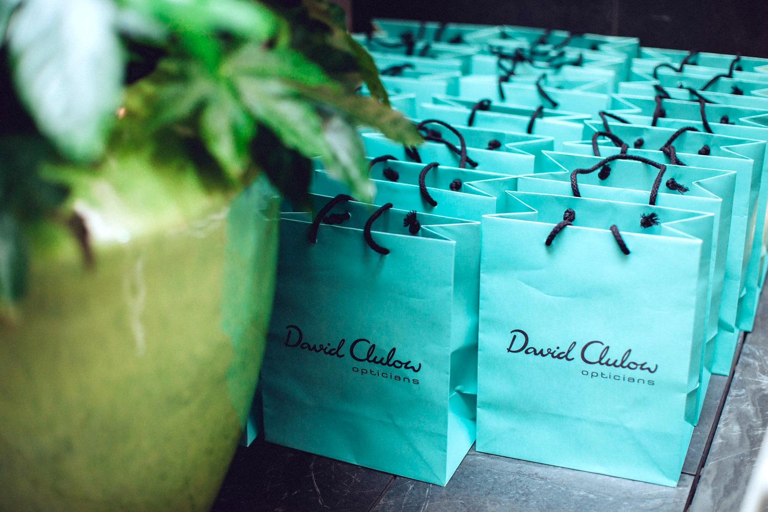 goodie bags at david clulow event