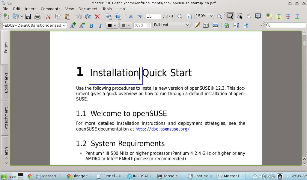 Master PDF Editor openSUSE