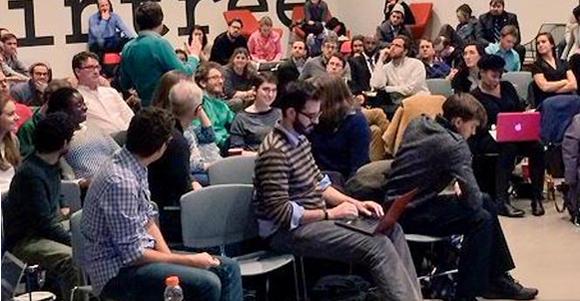 Chi Hack Night audience.