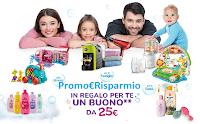 Logo Johnson&Johnson ''Regali da sogno'' : ricevi come premi sicuri 3 prodotti per bambini e buono spesa da 25€