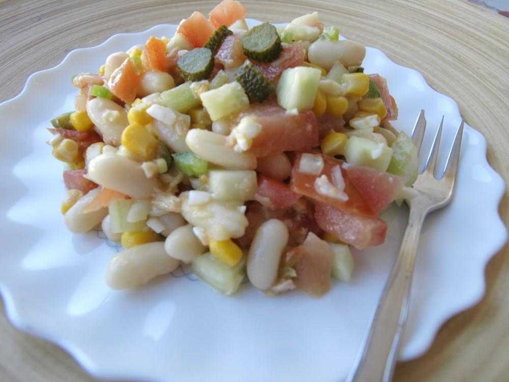 Con ingrediente secreto ensalada de alubias - Ensalada de alubias ...