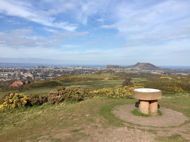 Braid Hills summit viewpoint, Edinburgh, Scotland
