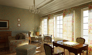 Окна из дерева в стиле Прованс