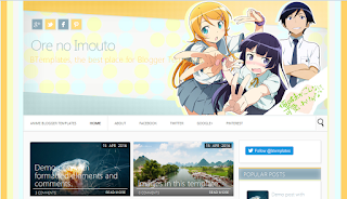 Download Template Anime for Blogger Ore no Imouto