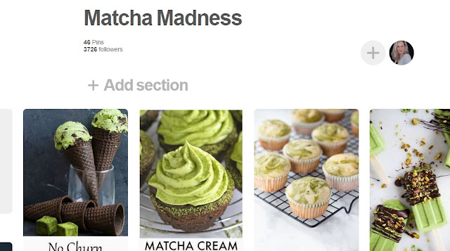 Image that links to Matcha Madness Pinterest board to find all kinds of Matcha recipes