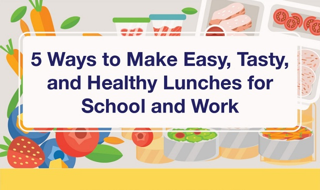 5 ways to make easy, tasty, and healthy lunches for school and work