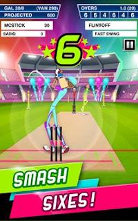 Stick Cricket Super League Mod APK Smash full