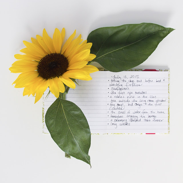 savor summer, #ssjuly2015, joy list monday, joy list, gratitude, sunflowers, Anne Butera, My Giant Strawberry
