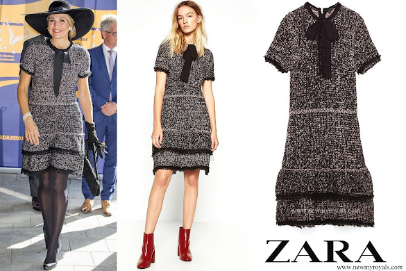 Queen Maxima wore ZARA Multicolored dress