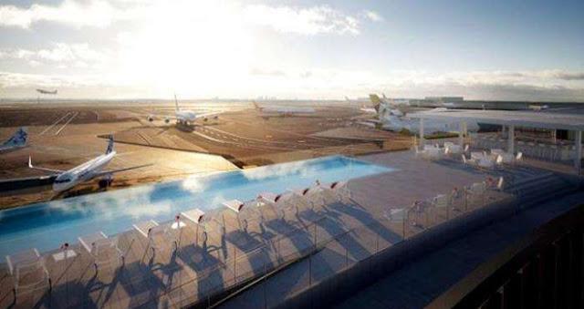 Abrirán 'piscina infinita' en aeropuerto de Nueva York