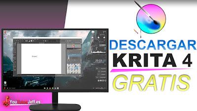 Krita para pc totalmente gratis, un excelente editor de imagen y pintura digital.