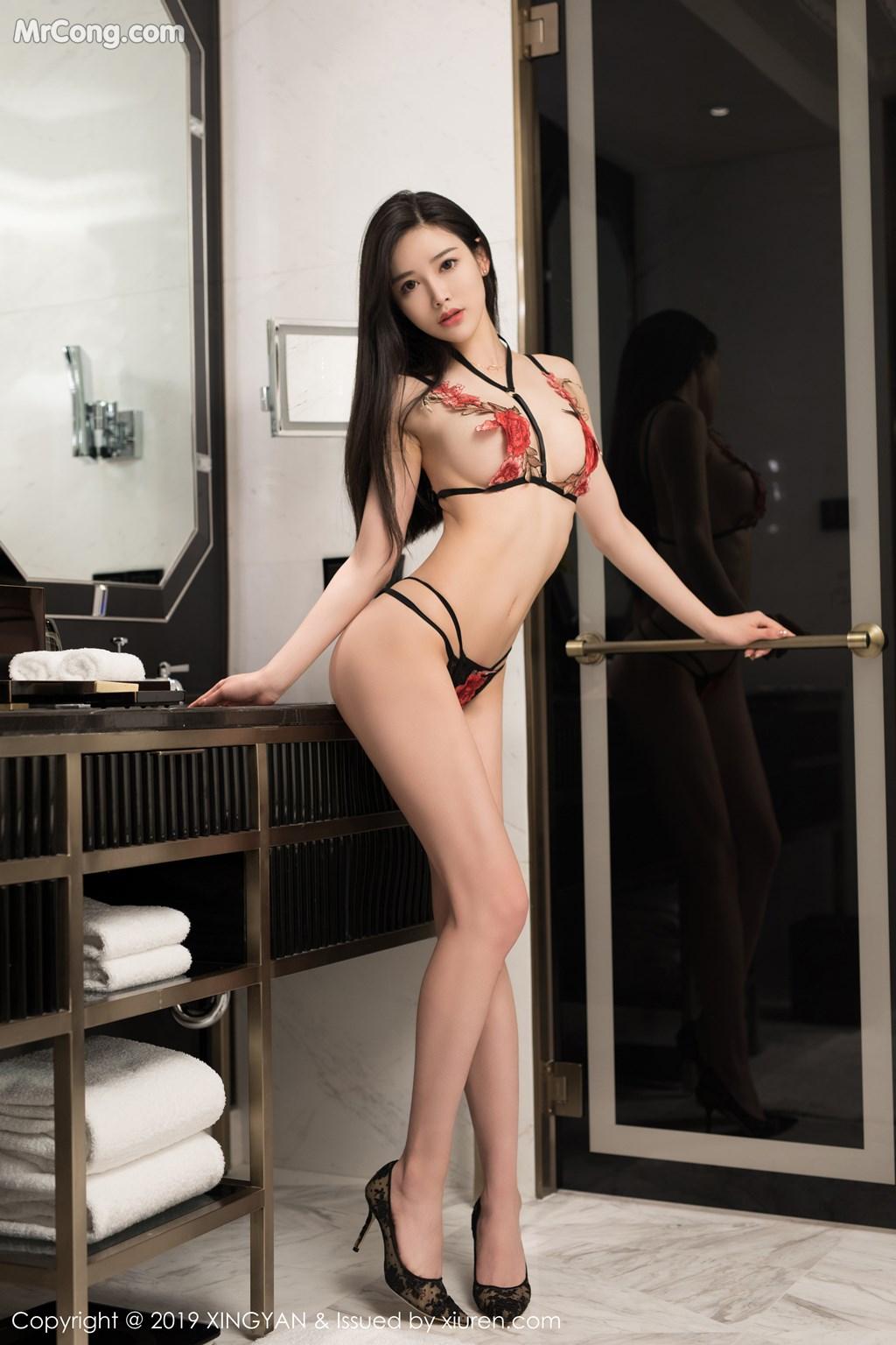Image XingYan-Vol.121-He-Chen-Xi-MrCong.com-041 in post XingYan Vol.121: He Chen Xi (何晨曦) (49 ảnh)