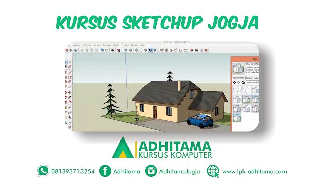 Tempat Kursus Sketchup Drafter dan Autocad yang bagus di Jogja