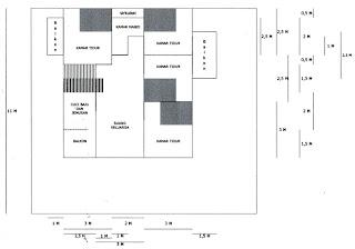 rumah minimalis cat abu abu: terbaru: denah rumah ukuran