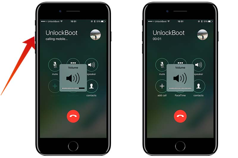adjust call volume on iphone